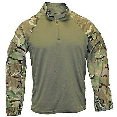 Genuine British Army Mtp Green Under Armour Combat Shirt-ubacs Warm Weather • 20£