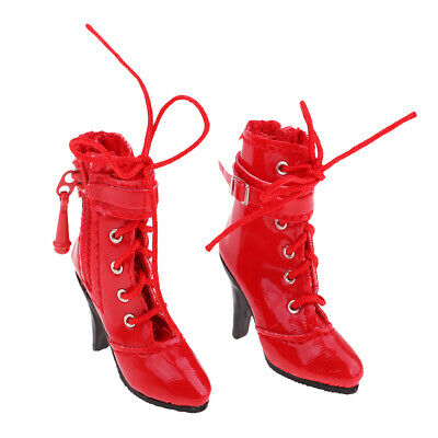 $16.50 • Buy 1:6 Scale Lady High Heel Shoes Boots For 12'' Enterbay Figure Clothing Red