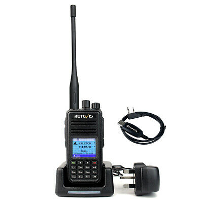 DMR Dual Band Retevis RT3S Digital Walkie Talkie Portable Emergency Ham Radio • 65.79£