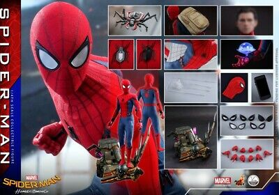 $ CDN962.12 • Buy 1/4 Hot Toys QS014 Marvel Spider-Man Homecoming Peter Parker Figure Collectible