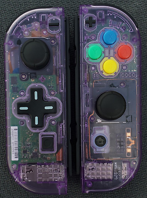 $117 • Buy New Nintendo Switch Atomic Purple Joy Con Controllers! D-pad + SNES Buttons!