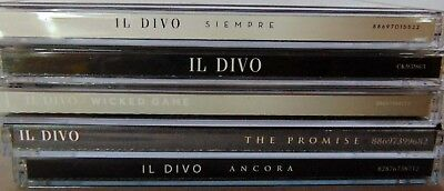 $ CDN15.99 • Buy Lot Of 6 CDs - IL DIVO - Ancora, Promise, Siempre, Wicked Game - VG