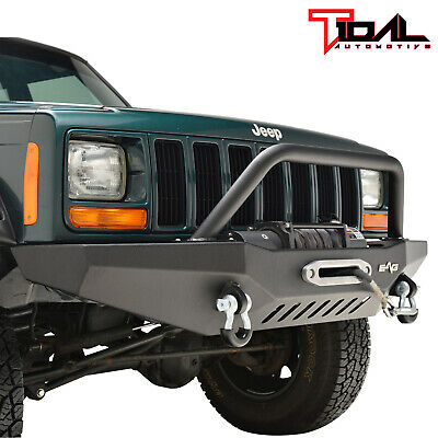 $429.99 • Buy Tidal Fit For 84-01 Jeep Cherokee XJ Off-road Front Bumper W/Winch Plate