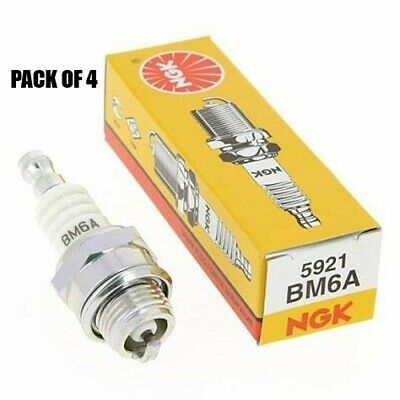 AU27.50 • Buy Spark Plugs 4 Pack Of Ngk Bm6a  Fits Victa 2 Stroke Lawnmowers - Replaces Cj8