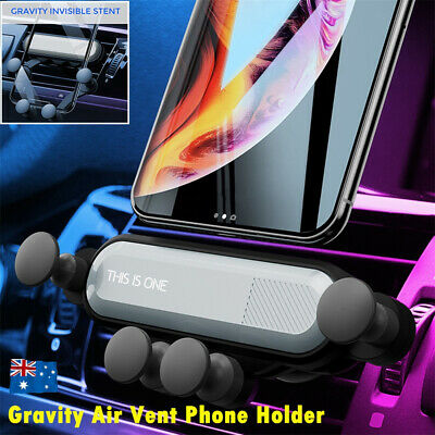 AU11.22 • Buy Gravity Car Phone Holder Air Vent Mount 360° Stand Cradle For IPhone Samsung GPS