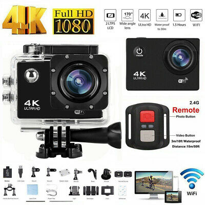 £28 • Buy Action Camera 4K 1080P WiFi Camcorder Waterproof DV Sports Cam+Remote Underwater