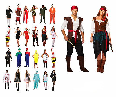 HALLOWEEN HORROR FANCY DRESS COSTUME ADULT Ladies Men Outfit Book Character UK • 15.75£