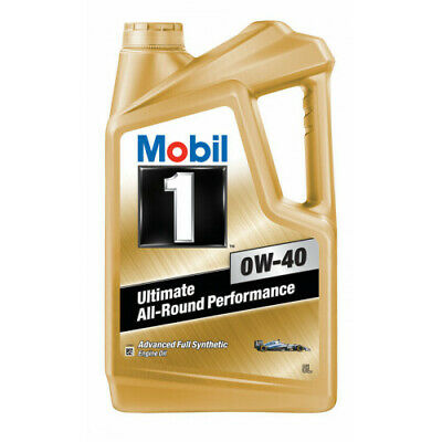 AU94.95 • Buy Mobil 1 0W-40 Full Synthetic Engine Oil 5L 140522