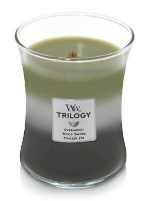 $19.99 • Buy MOUNTAIN TRAIL WoodWick Trilogy 10 Oz Scented Jar Candles - 3 In One