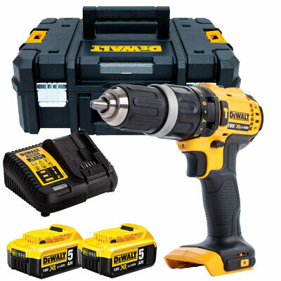 Dewalt DCD785N 18V 2-Speed Combi Drill + 2 X 5.0Ah Batteries & Charger In TSTAK • 244£