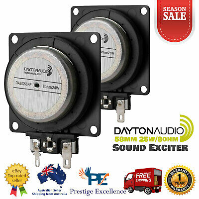 AU77.80 • Buy 2X Dayton Audio 58mm Sound Exciter 25W 8Ohm Flat Pack Vibration Speaker DAEX58FP