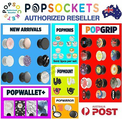 AU17.50 • Buy Genuine Popsockets Grip Universal Mobile Tablet Holder Stand Mount Pop Socket