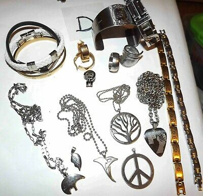 $ CDN53.74 • Buy Huge Lot D Of Never Tarnish Stainless Steel Jewelry Necklaces, & More *lqqk*