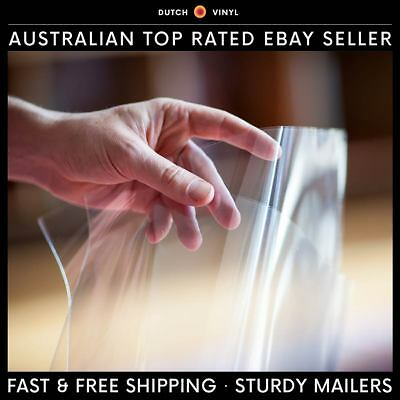 AU26.95 • Buy 100 X Blake Plastic Record Outer Sleeves For 7  Vinyl Singles - Crystal Clear