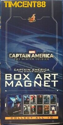 AU126.25 • Buy Ready! Hot Toys Captain America: The Winter Solider Box Art Magnet Set Of 10 New