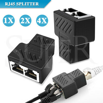 AU9.68 • Buy RJ45 Ethernet LAN Network Y Splitter Double Adapter Cable Connector CAT5/6/7