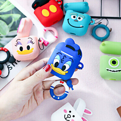 $ CDN4.11 • Buy Cartoon Silicone Earphone Protective Case For Apple AirPods TPU Protector Cover