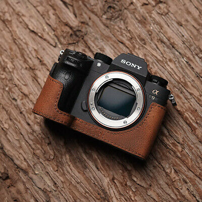 $ CDN88.59 • Buy Genuine Leather Half Camera Case Bag Bottom Cover Fr Sony A9 A7RIII A7III ILCE-9