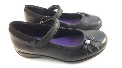 Clarks Daisy Spark Girls (jnr) Black Leather School / Formal Shoes • 24£