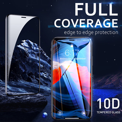 AU6.69 • Buy IPhone X XS Max XR 10D FULL Coverage Tempered Glass Screen Protector Apple