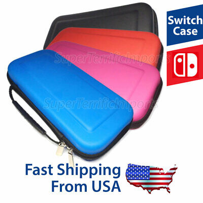 Nintendo Switch Case With Carrying Handle And 10 Game Slots, Blue Pink Red Black • 6.98$