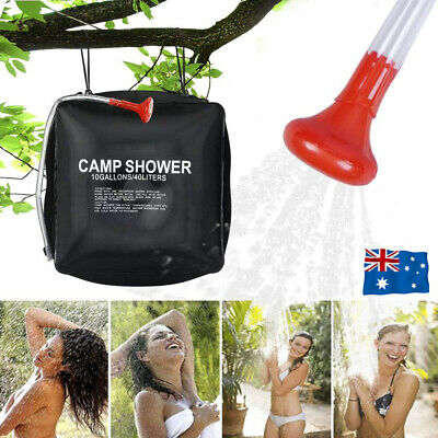 AU14.95 • Buy 40L Camp Shower Bag Solar Heat Water Pipe Portable Camping Hiking Travel Outdoor