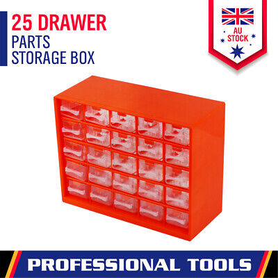 AU24.98 • Buy 25-Drawer Parts Storage Tool Organizer Cabinet Box Chest Plastic With Dividers