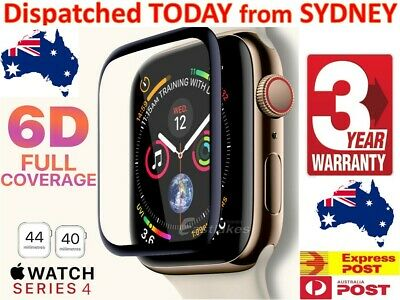 AU5.98 • Buy For Apple Watch 6 5 / 4 44 & 40 Mm Curved Tempered Glass FULL Screen Protector