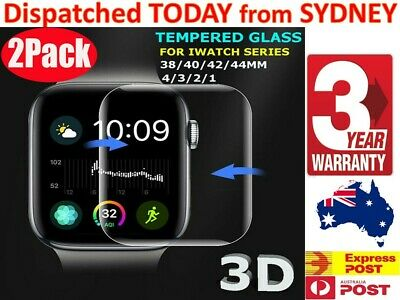 AU7.10 • Buy 2 X Apple Watch 1 2 3 4 38 / 40 / 42 / 4mm Tempered Glass Screen Protector OEM