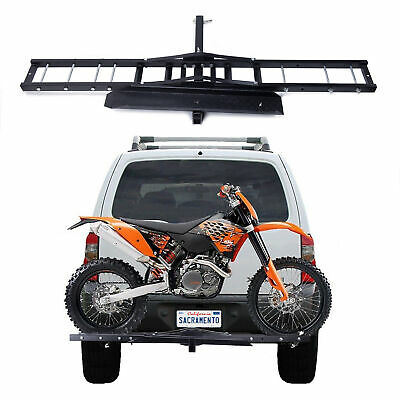 Trailer Hitch Motorcycle Carrier >> Motorcycle Trailer Ramp