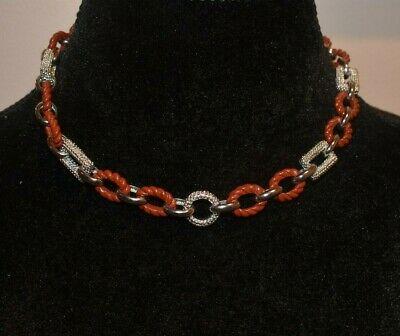 $ CDN241.98 • Buy Whitney Kelly Wk Sterling Silver And Jasper Large Link Chain Necklace