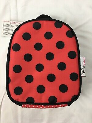 New American Girl Child Red Black Spotted Ladybug Lunch Box Bag • 13.46£