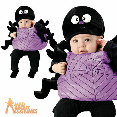 Toddler Silly Spider Costume Baby Halloween Insect Fancy Dress Outfit And Hat • 12.99£