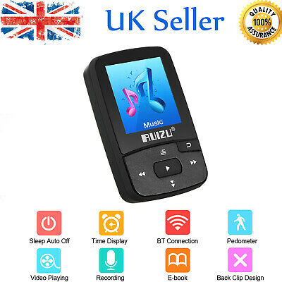 Portable Bluetooth MP3 Music Player With FM Lossless Support TF Up To 128GB R4J6 • 18.43£