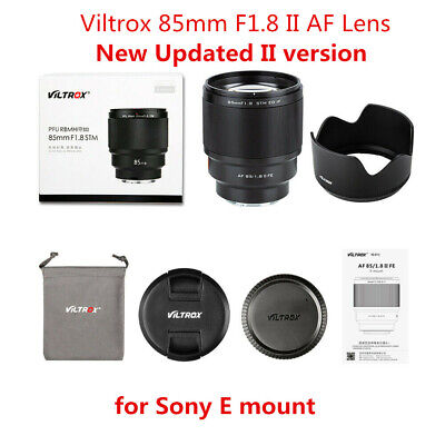 $ CDN509.49 • Buy New Version II Viltrox 85mm F1.8 AF Portrait Lens For Sony E-Mount A7R III A7m3