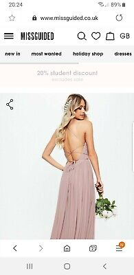 Bridesmaid Dress Size 8 Missguided Mink Pink • 22£