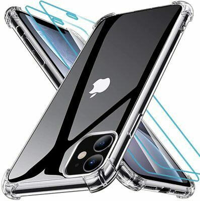 CLEAR Shockproof Case For IPhone 11 Pro Max XR X XS Max 8 7 Plus Cover Silicone • 3.99£