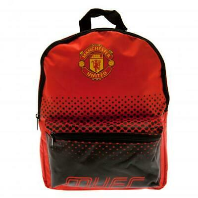 Manchester United FC Official Crested Junior Nylon Backpack School Bag Present • 13.49£