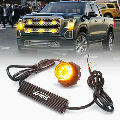$33.99 • Buy Xprite LED Hideaway Strobe Lights Amber Emergency Hazard Light Head Mounting 12V