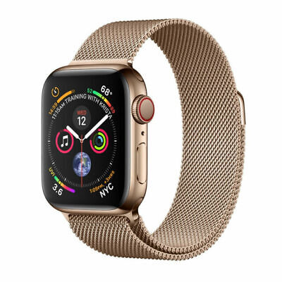 $ CDN1020.56 • Buy Apple Watch Series 4 44 Mm Gold Stainless Steel Case With Gold Milanese Loop...