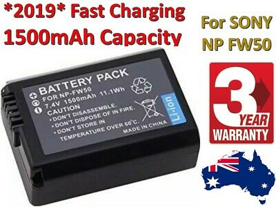 AU17.73 • Buy NP-FW50 Battery & Charger X2 Wasabi For SONY Alpha A5000,A5100,A6000,A6300,A6500