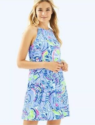 $39.99 • Buy NWOT Lilly Pulitzer Margot Dress Peri Pinch Dress Size L Large