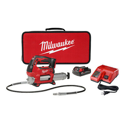 $279 • Buy Milwaukee 2646-21CT M18 Cordless 2-Speed Grease Gun Kit With 1 Battery W/ Case