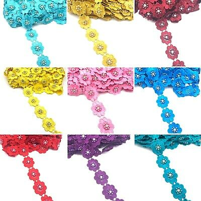 £3.49 • Buy 1Yard Beautiful Flower Bridal Embroidered Trimming Ribbon Lace For Wedding Dress