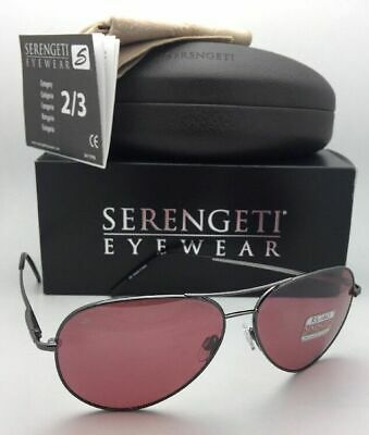 $229.95 • Buy SERENGETI PHOTOCHROMIC POLARIZED Sunglasses Medium Aviator 8088 Gunmetal +Sedona