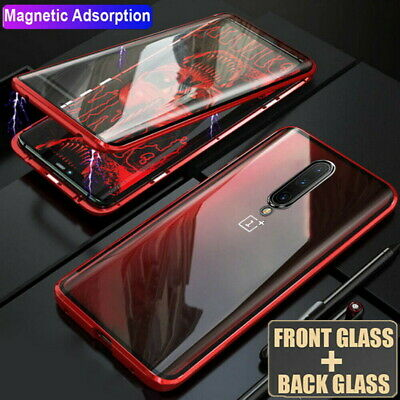 $ CDN10.73 • Buy For OnePlus 8 7 7T Pro 360° Magnetic Adsorption Double Sided Tempered Glass Case