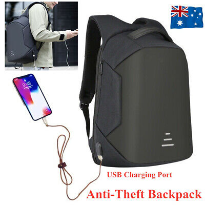 AU25.50 • Buy Anti Theft Backpack Waterproof School Travel Laptop Shoulder Bags USB Charging