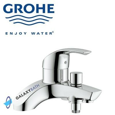 Grohe Eurosmart Single Lever Bath Shower Mixer Tap Wall Mounted Modern Chrome • 149£