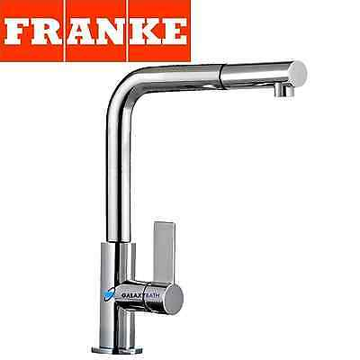 Franke Neptune Chrome Kitchen Sink Modern Mixer Tap Single Lever Pull Out Spray • 159£
