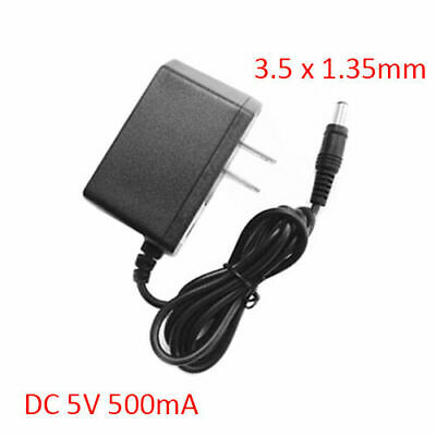 AC 100-240V DC 5V 500mA 3.5mm * 1.35mm Plug Power Supply Adapte Wall Charger US • 4.99$